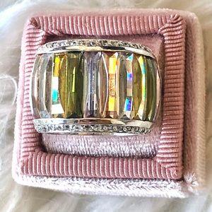 Swarovski multi color crystal ring